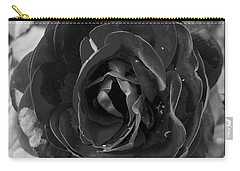 Black Rose Carry-all Pouch by Nina Ficur Feenan