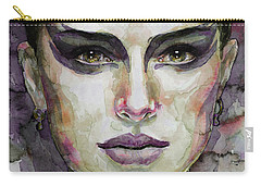 Black Swan Carry-all Pouch by Laur Iduc