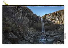 Black Waterfall Carry-all Pouch by Gunnar Orn Arnason