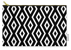 Black And White Pattern Carry-all Pouch by Christina Rollo