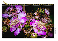 Blackberry Flower Carry-all Pouch by Edgar Laureano