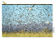 Blackbirds And Geese Carry-all Pouch