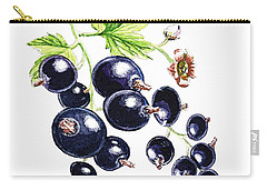 Carry-all Pouch featuring the painting Blackcurrant Berries  by Irina Sztukowski