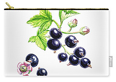 Carry-all Pouch featuring the painting Blackcurrant Botanical Study by Irina Sztukowski