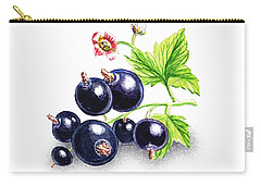 Carry-all Pouch featuring the painting Blackcurrant Still Life by Irina Sztukowski