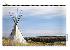 Carry-all Pouch featuring the photograph Blackfoot Teepee by Alyce Taylor