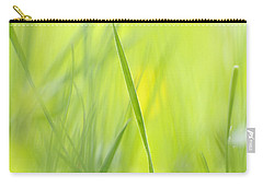 Blades Of Grass - Green Spring Meadow - Abstract Soft Blurred Carry-all Pouch by Matthias Hauser