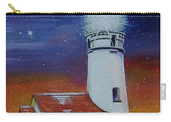 Carry-all Pouch featuring the painting Blanco Lighthouse by Thomas J Herring