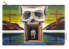Carry-all Pouch featuring the painting Blasphemixition by Ryan Demaree