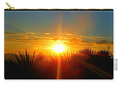 Blaze In The Desert Carry-all Pouch