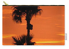 Carry-all Pouch featuring the photograph Blazing Sunset by Deb Halloran