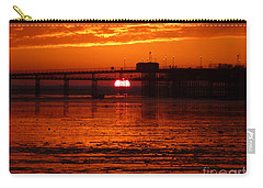 Carry-all Pouch featuring the photograph Blazing Sunset by Vicki Spindler