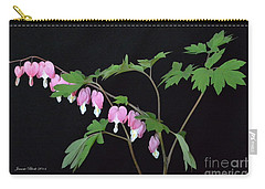 Carry-all Pouch featuring the photograph Bleeding Hearts 2 by Jeannie Rhode