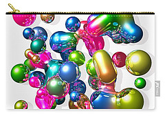 Carry-all Pouch featuring the digital art Blobs Of Fun... by Tim Fillingim