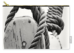 Block And Tackle Of Old Sailing Ship Carry-all Pouch