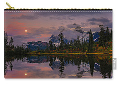 Bloodmoon Rise Over Picture Lake Carry-all Pouch by Eti Reid