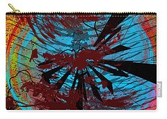 Carry-all Pouch featuring the digital art Bloody Mess by Clayton Bruster