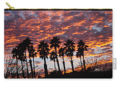 Bloody Sunset Over The Desert Carry-all Pouch by Jay Milo