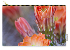 Carry-all Pouch featuring the photograph Bloom In Orange by Bryan Keil