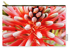 Carry-all Pouch featuring the photograph Pink Blooming Desert Aloe Beauty by Belinda Lee