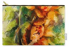 Blooming Flowers - Batik Carry-all Pouch by Bernadette Krupa