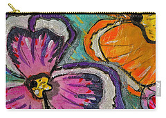 Carry-all Pouch featuring the painting Blooming Flowers by Joan Reese