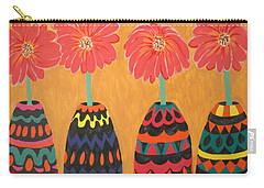 Blooms In Native Dress Carry-all Pouch
