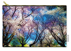 Blossom Cherry Trees Over Spring Sky Carry-all Pouch by Lanjee Chee