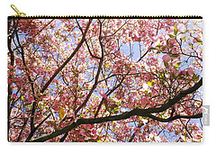 Blossoming Pink Carry-all Pouch by Robyn King