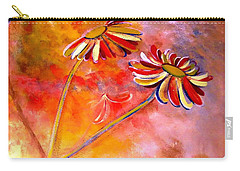 Blown Backward Fall Floral Carry-all Pouch by Lisa Kaiser