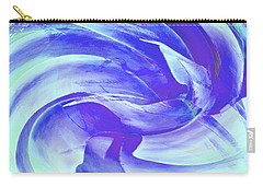 Blue Agave Swirl Carry-all Pouch by Stephanie Grant