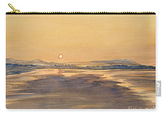 Blue Anchor Sunset Carry-all Pouch by Martin Howard