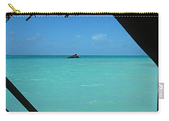 Carry-all Pouch featuring the photograph Blue And Green by Photographic Arts And Design Studio