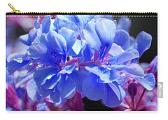 Blue And Purple Flowers Carry-all Pouch by Matt Harang