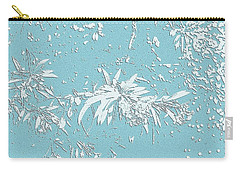 Blue And White Leaves Carry-all Pouch