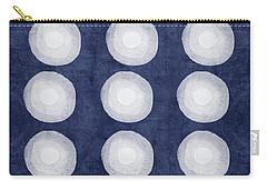 Blue And White Shibori Balls Carry-all Pouch