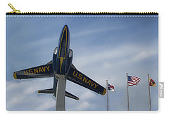 Carry-all Pouch featuring the photograph Blue Angels Tribute by Victor Montgomery