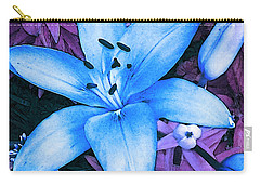 Carry-all Pouch featuring the photograph Blue Asiatic Lily by Shawna Rowe