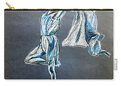 Blue Ballerina Dance Art Carry-all Pouch