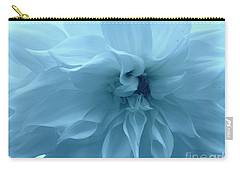 Blue Beauty - Dahlia Carry-all Pouch by Dora Sofia Caputo Photographic Art and Design