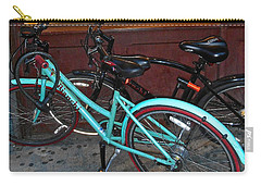 Carry-all Pouch featuring the photograph Blue Bianchi Bike by Joan Reese