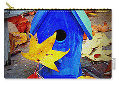 Carry-all Pouch featuring the photograph Blue Bird House by Rodney Lee Williams