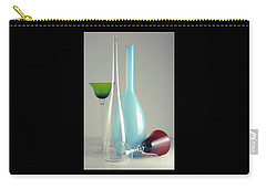 Carry-all Pouch featuring the photograph Blue Bottle #2 by Elf Evans