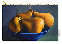 Blue Bowl With Four Pears Carry-all Pouch