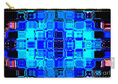 Blue Bubble Glass Carry-all Pouch by Anita Lewis