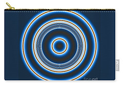 Blue Bull's Eye Carry-all Pouch by Joan Hartenstein