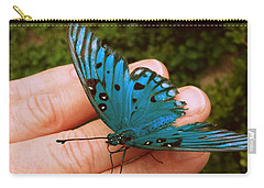 Blue Butterfly Carry-all Pouch by Paul  Wilford