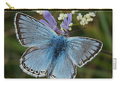 Carry-all Pouch featuring the digital art Blue Butterfly by Ron Harpham