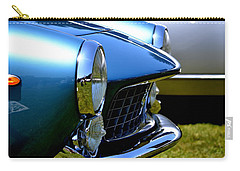 Carry-all Pouch featuring the photograph Blue Car by Dean Ferreira