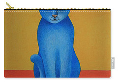Blue Cat Carry-all Pouch by Pamela Clements